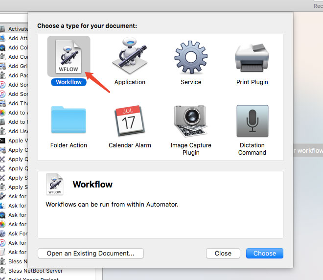 create a new workflow.
