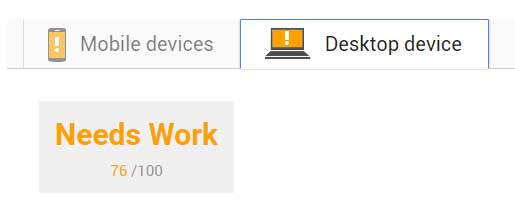 Website speed on mobile devices and destop device.
