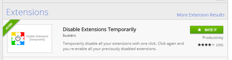add disable extensions temporarily to chrome.