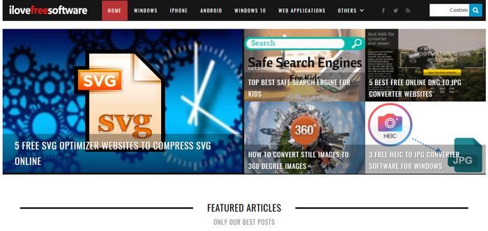 ilovefreesoftware.com website.