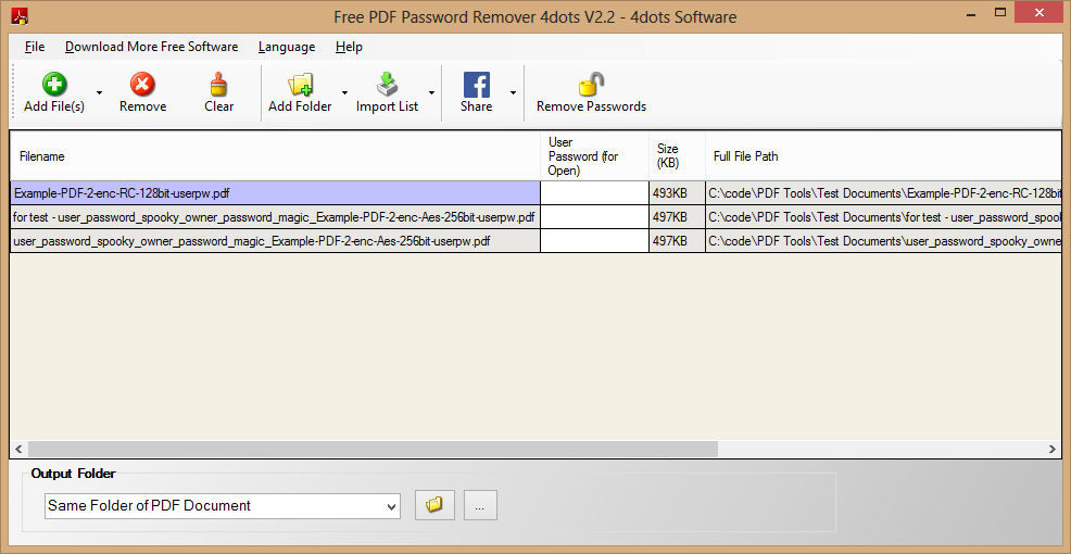 Weeny Pdf Password Remover