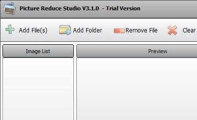 Add files to Picture Reduce Studio.