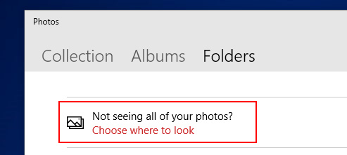 choose folder to see all photos.