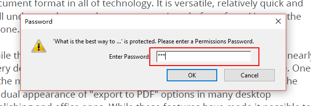 enter password to remove restriction