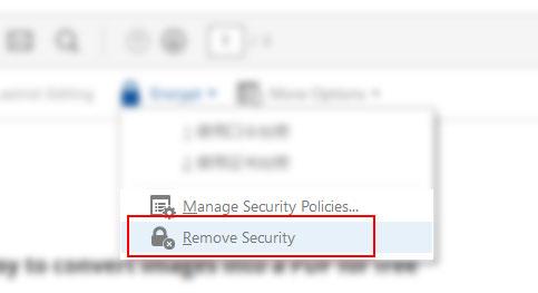 remove security using Adobe Acrobat