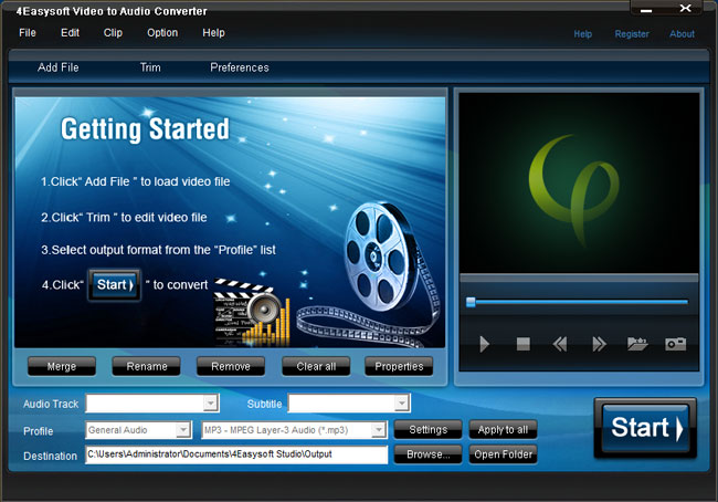 Rated video to audio converter 1