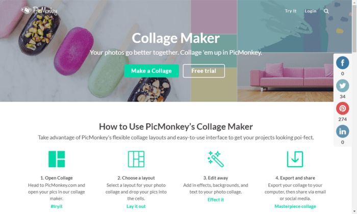 How to edit images and create collages using PicMonkey