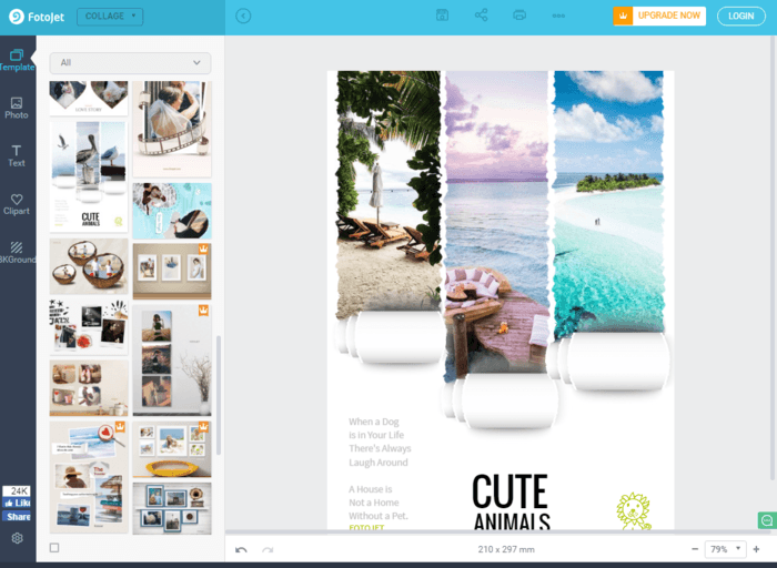 how to create a photo collage online for free wonderfulshare